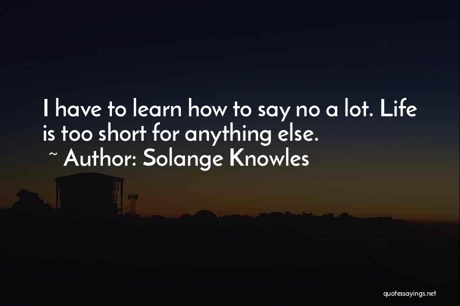 Life Is Too Short For Quotes By Solange Knowles