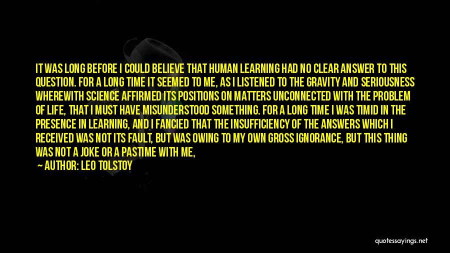 Life Joke Quotes By Leo Tolstoy