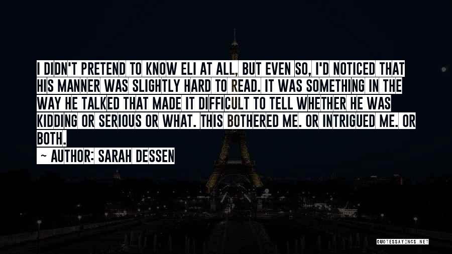 Life Joke Quotes By Sarah Dessen