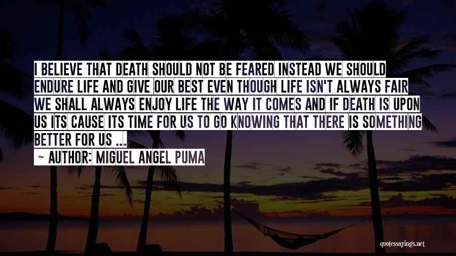 Life Just Isn't Fair Quotes By Miguel Angel Puma