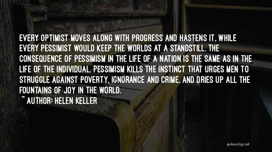 Life Keep Moving Quotes By Helen Keller