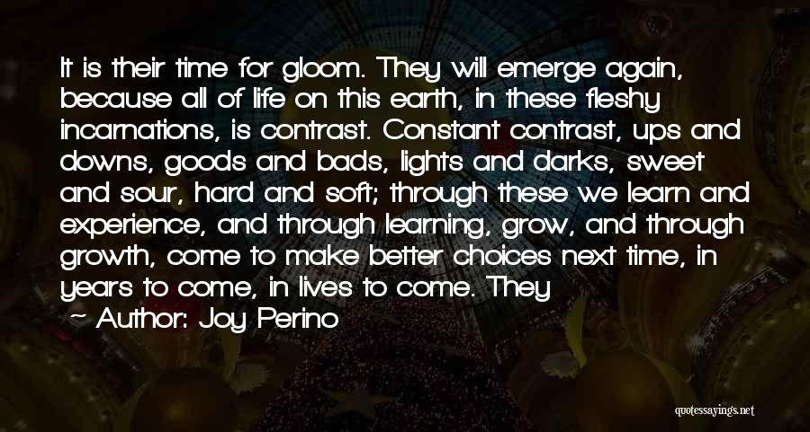 Life Learn Quotes By Joy Perino