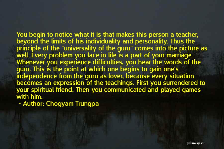 Life Lover Quotes By Chogyam Trungpa