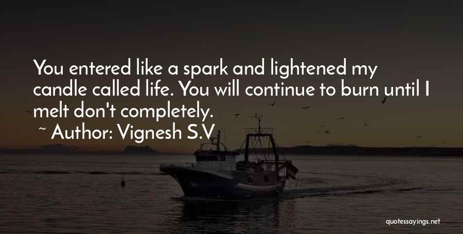 Life Lover Quotes By Vignesh S.V