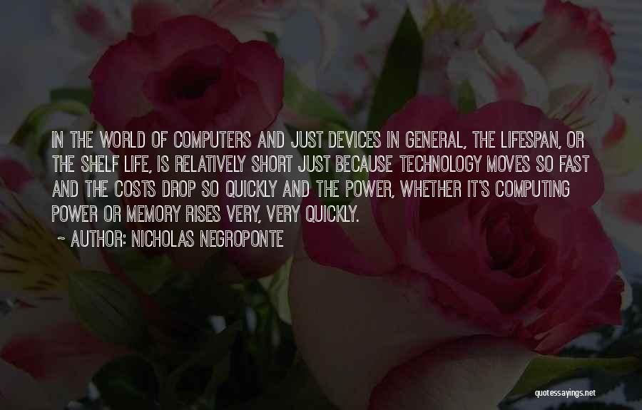 Life Moves Quickly Quotes By Nicholas Negroponte