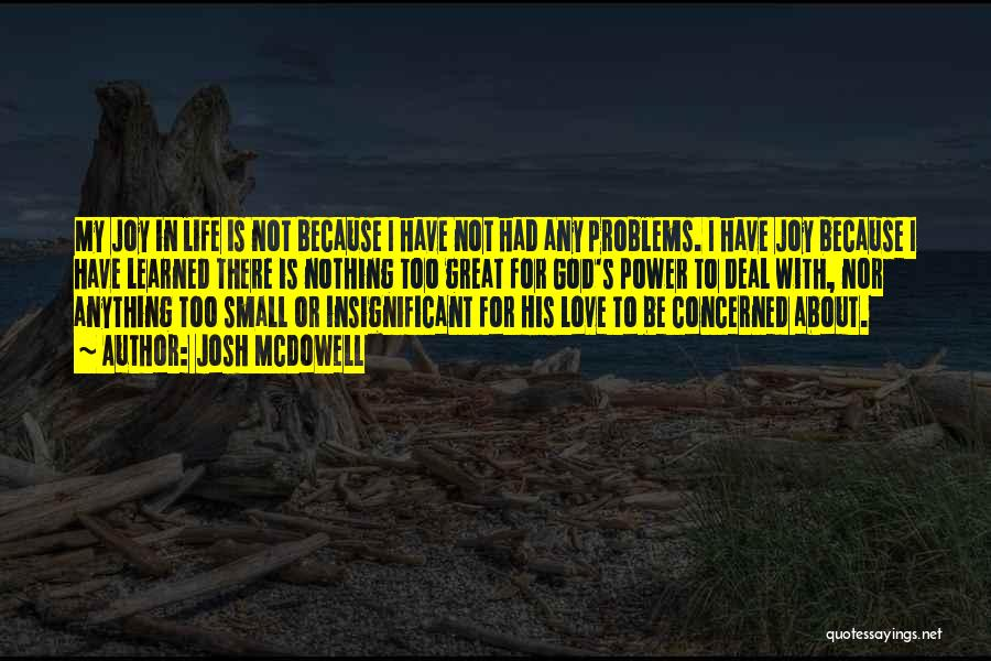 Life N Joy Quotes By Josh McDowell