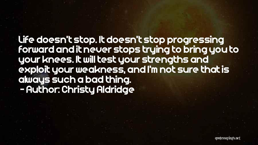 Life Never Stops For Someone Quotes By Christy Aldridge