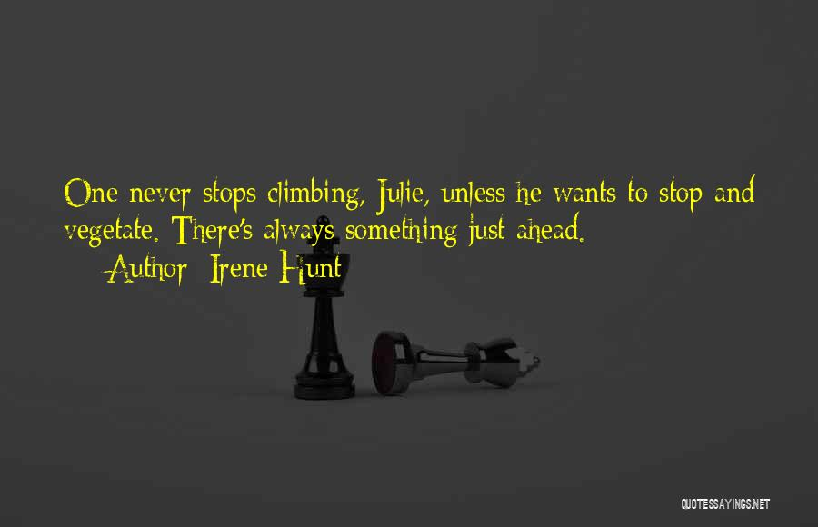 Life Never Stops For Someone Quotes By Irene Hunt