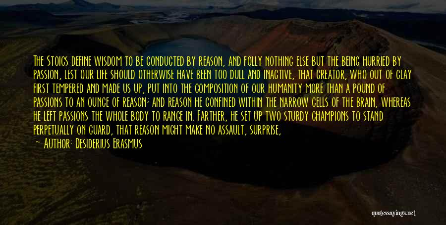 Life Of Wisdom Quotes By Desiderius Erasmus
