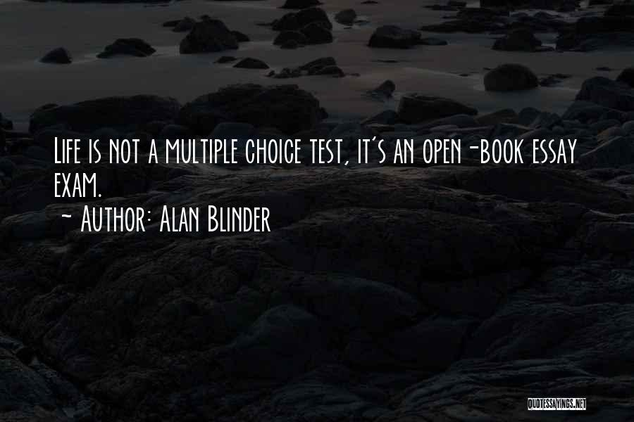 Life Open Book Quotes By Alan Blinder