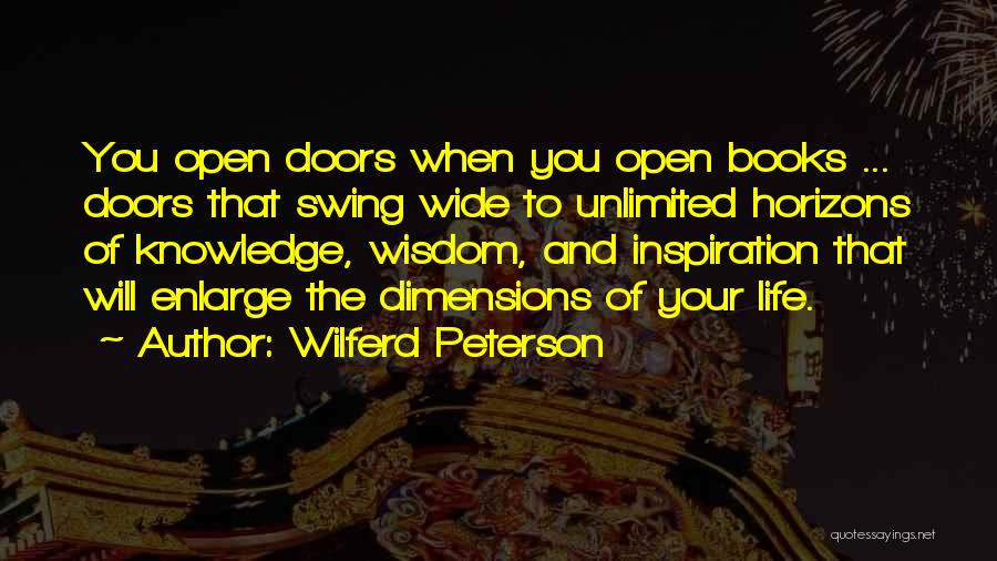 Life Open Book Quotes By Wilferd Peterson