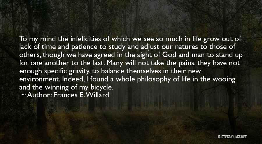 Life Out Of Balance Quotes By Frances E. Willard