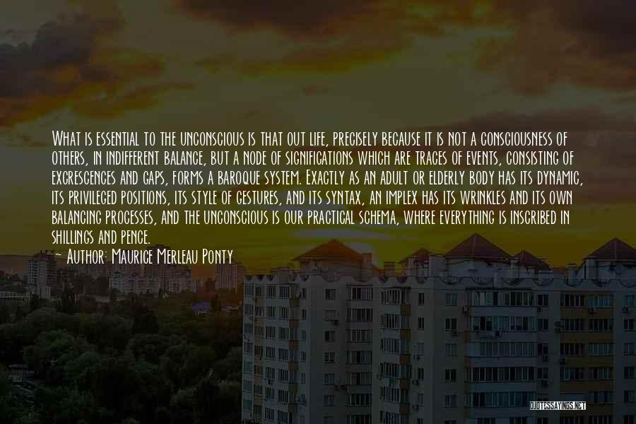 Life Out Of Balance Quotes By Maurice Merleau Ponty