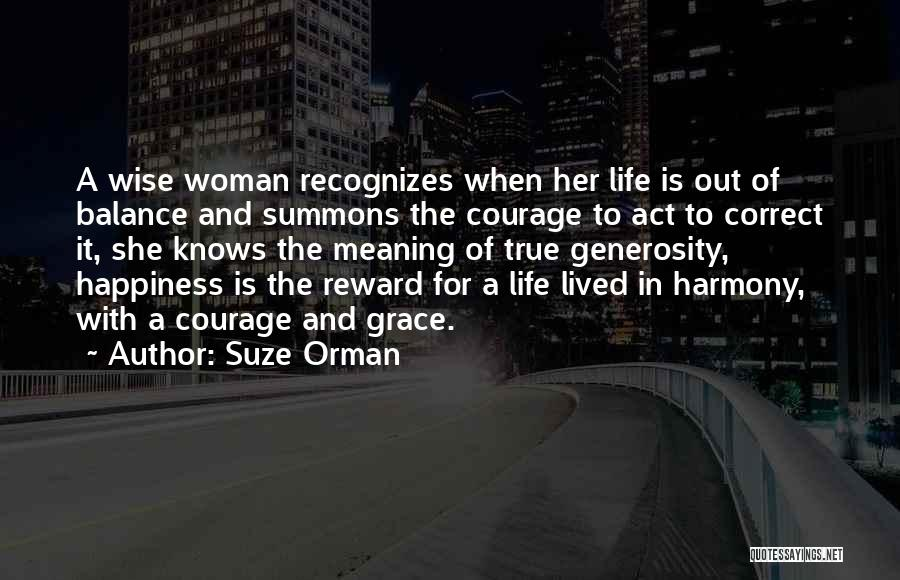 Life Out Of Balance Quotes By Suze Orman