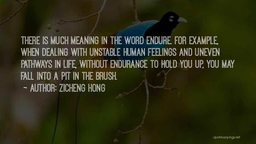 Life Pathways Quotes By Zicheng Hong
