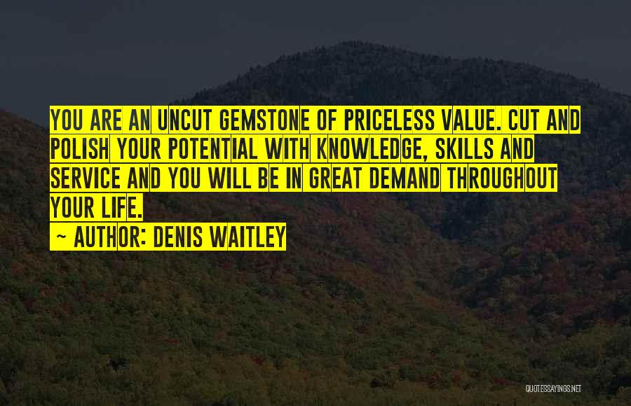 Life Priceless Quotes By Denis Waitley