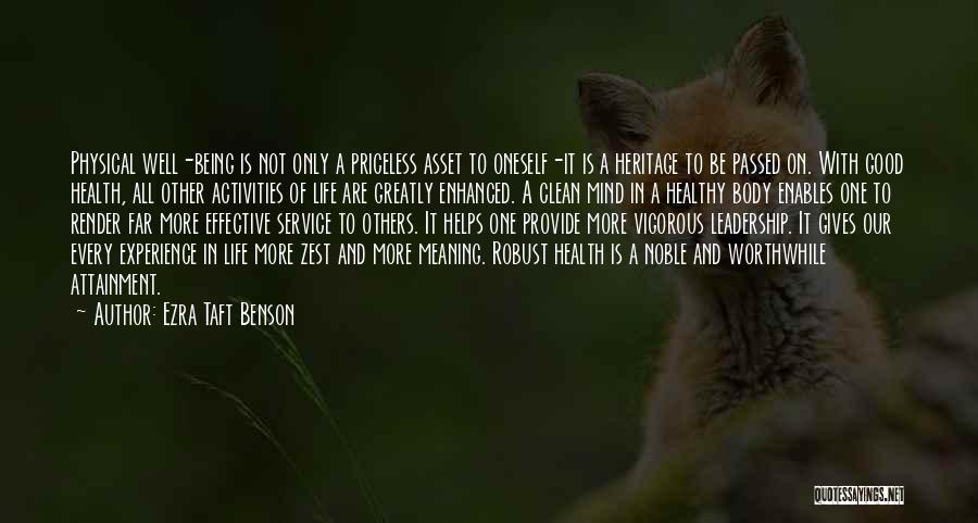 Life Priceless Quotes By Ezra Taft Benson