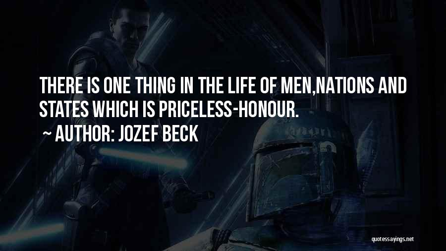 Life Priceless Quotes By Jozef Beck