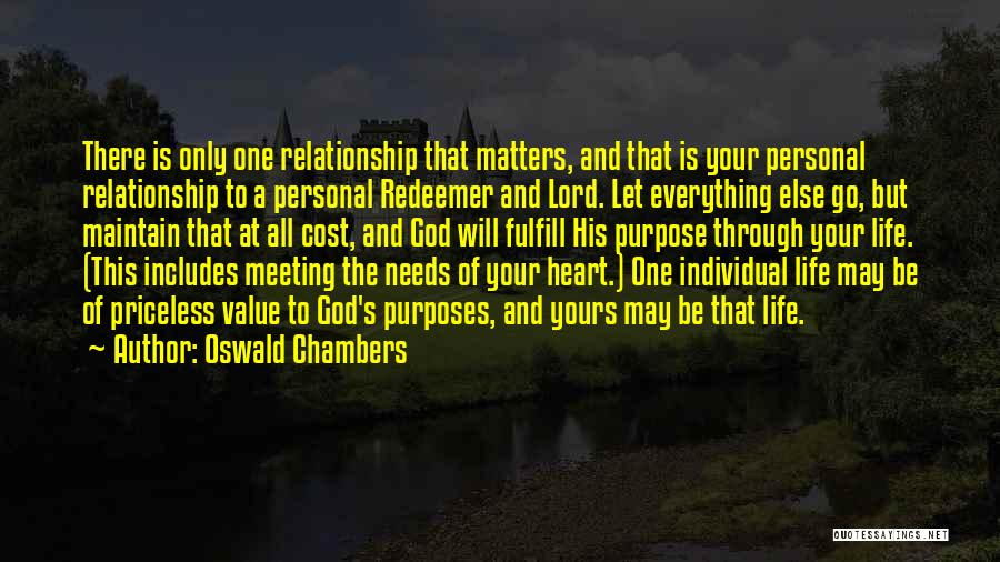 Life Priceless Quotes By Oswald Chambers