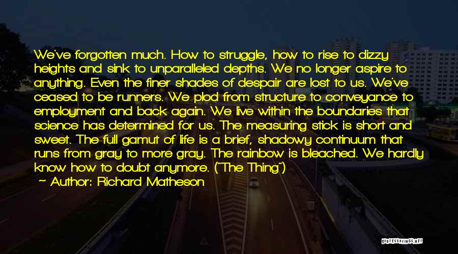 Life Short And Sweet Quotes By Richard Matheson