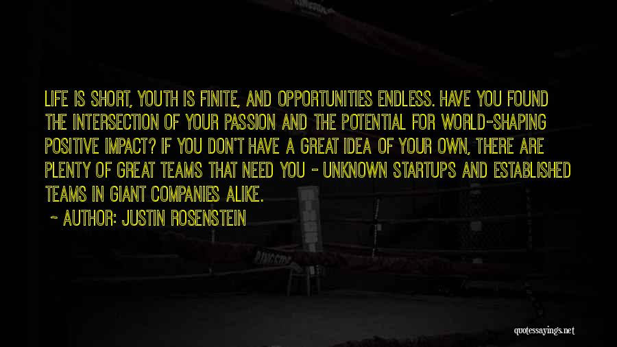 Life Short Positive Quotes By Justin Rosenstein