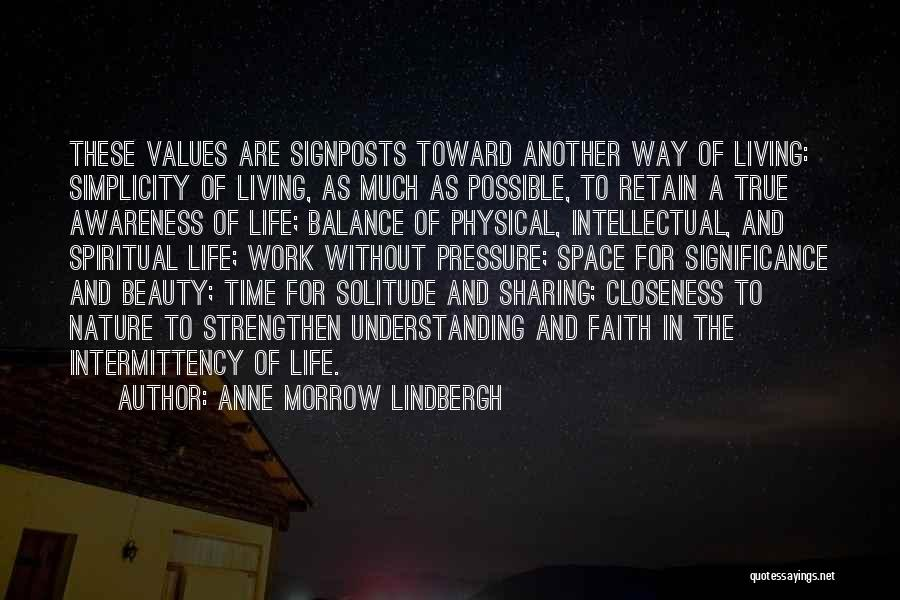 Life Significance Quotes By Anne Morrow Lindbergh
