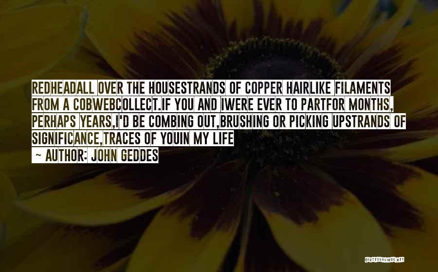Life Significance Quotes By John Geddes