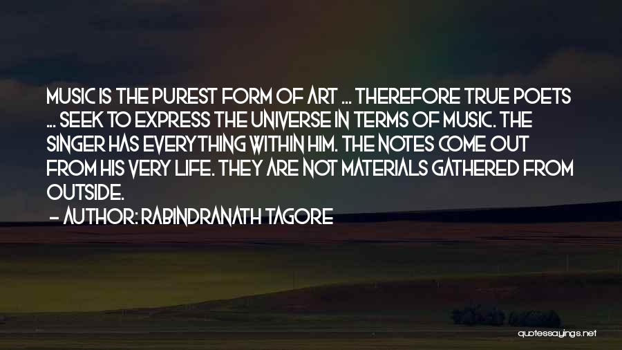 Life Singers Quotes By Rabindranath Tagore