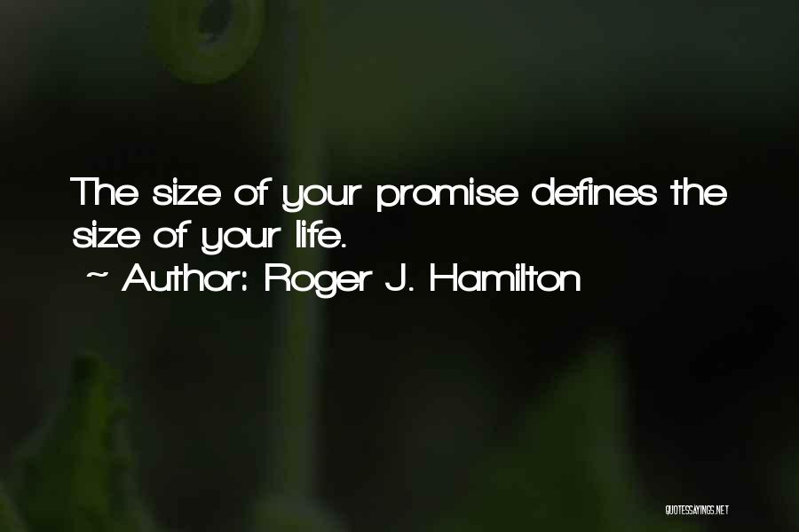 Life Size Quotes By Roger J. Hamilton