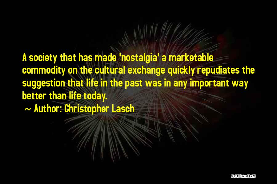 Life Suggestion Quotes By Christopher Lasch