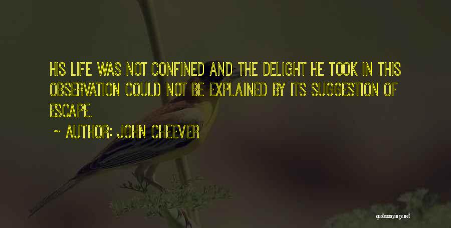 Life Suggestion Quotes By John Cheever