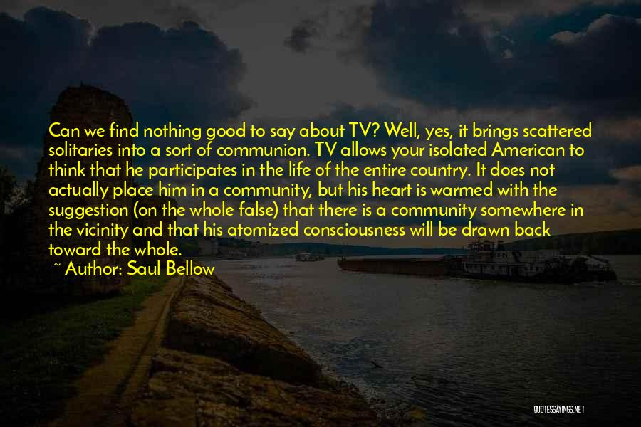 Life Suggestion Quotes By Saul Bellow