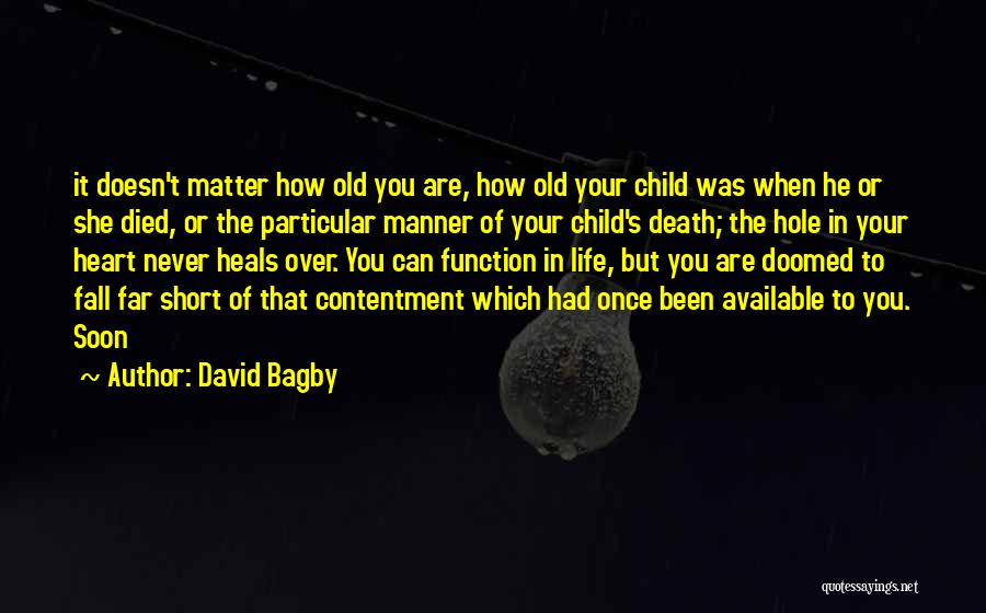 Life That Are Short Quotes By David Bagby