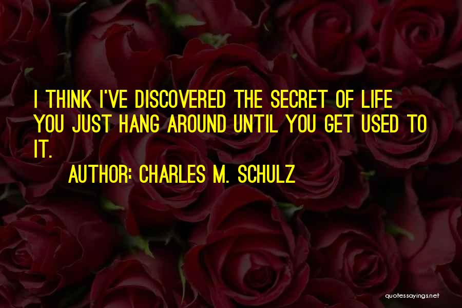 Life The Secret Quotes By Charles M. Schulz