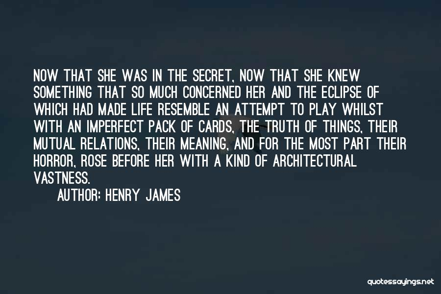 Life The Secret Quotes By Henry James