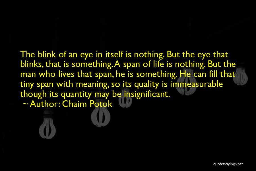 Life Though Quotes By Chaim Potok