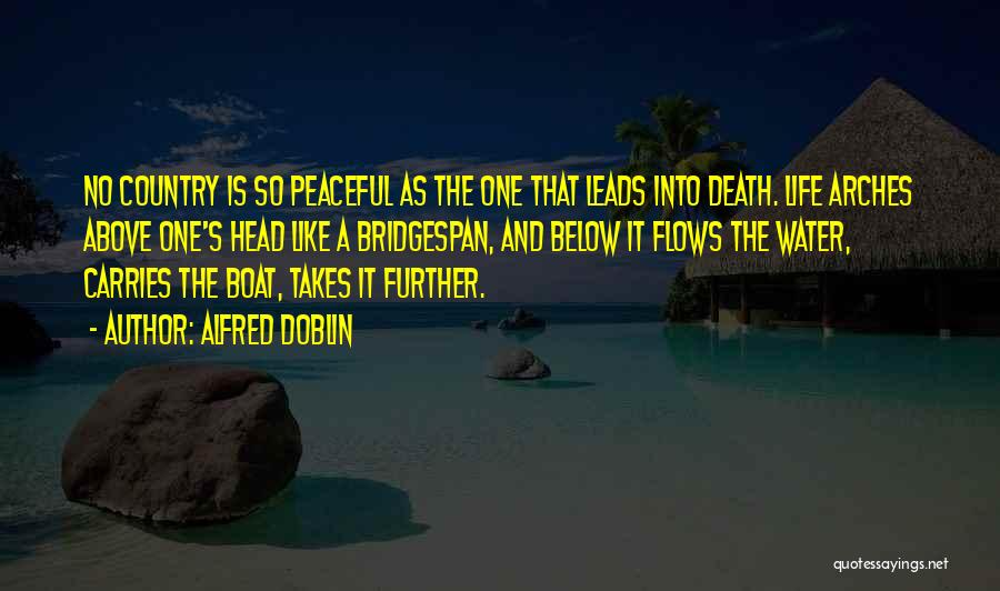 Life Water Quotes By Alfred Doblin