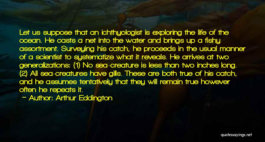 Life Water Quotes By Arthur Eddington
