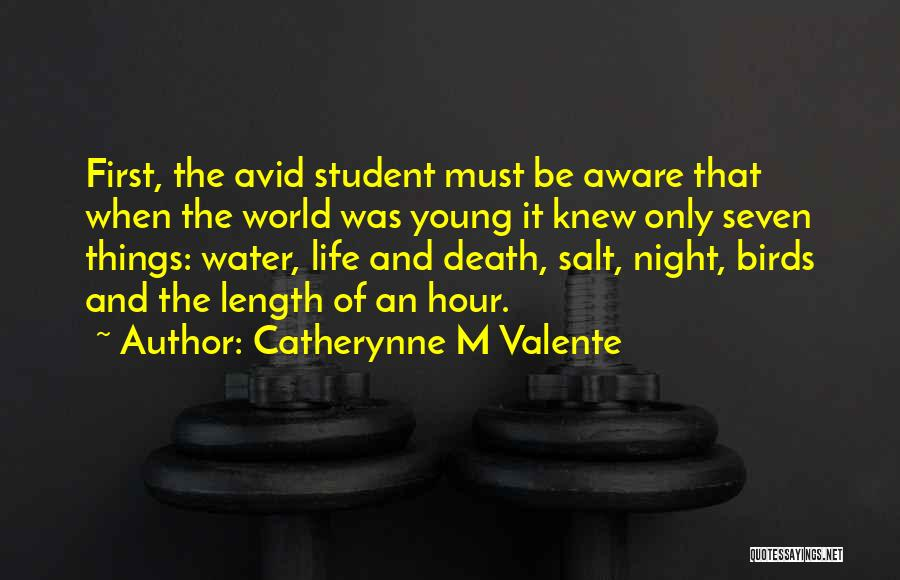 Life Water Quotes By Catherynne M Valente