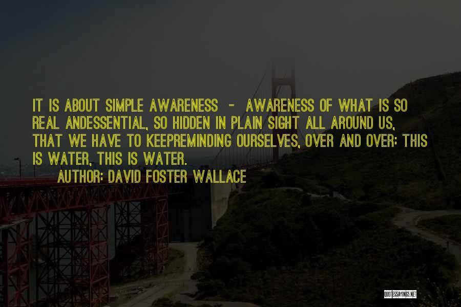 Life Water Quotes By David Foster Wallace