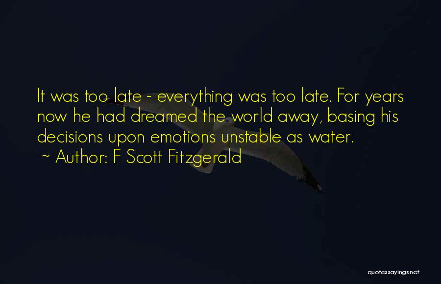 Life Water Quotes By F Scott Fitzgerald