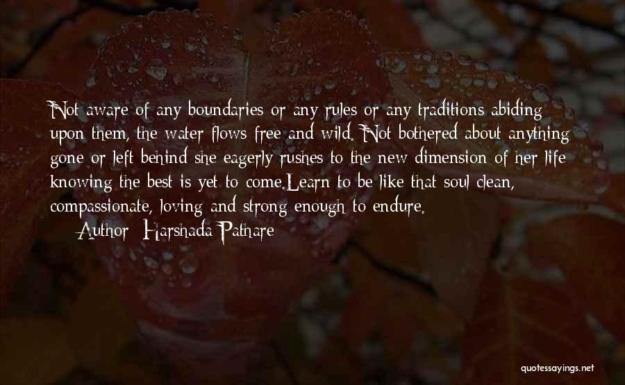Life Water Quotes By Harshada Pathare