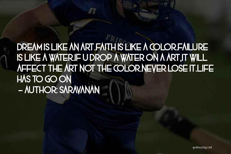 Life Water Quotes By Saravanan