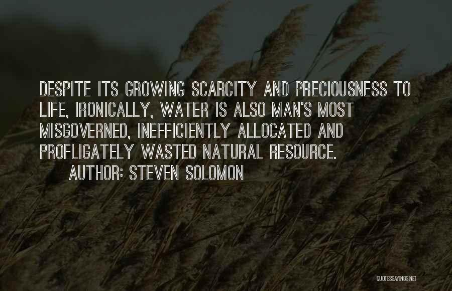 Life Water Quotes By Steven Solomon