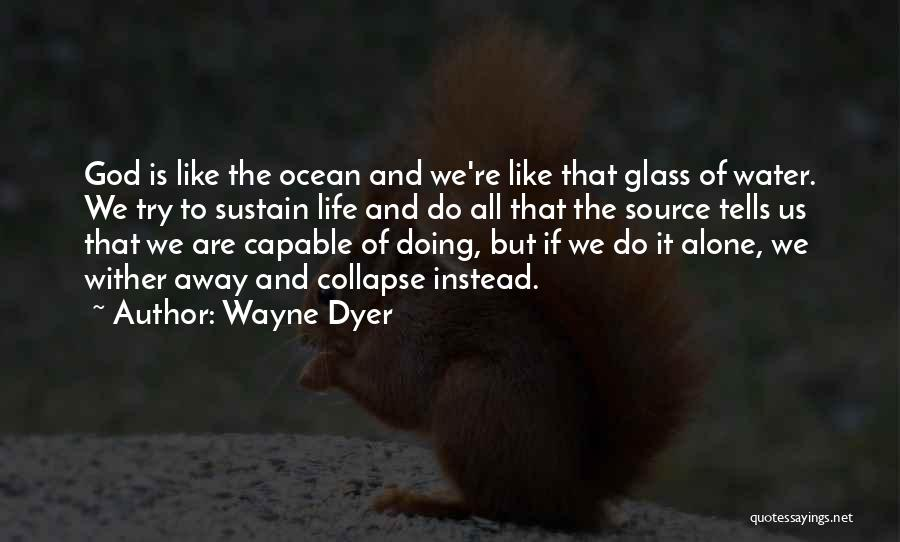 Life Water Quotes By Wayne Dyer