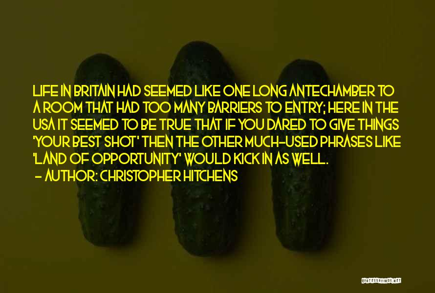 Life Without Barriers Quotes By Christopher Hitchens