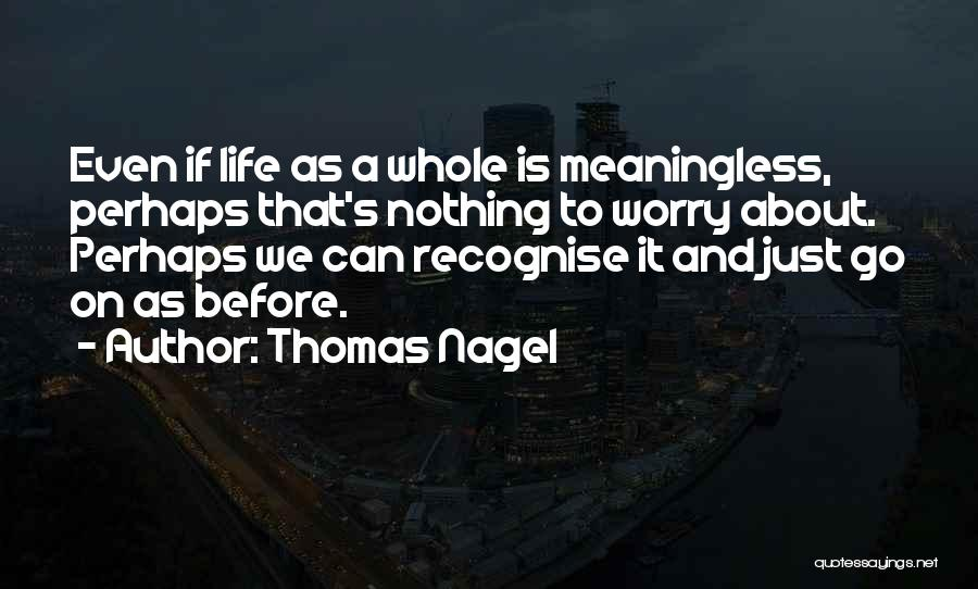 Life Without You Is Meaningless Quotes By Thomas Nagel