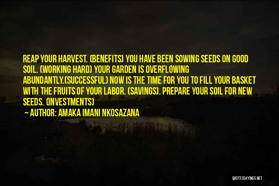 Life Working Hard Quotes By Amaka Imani Nkosazana