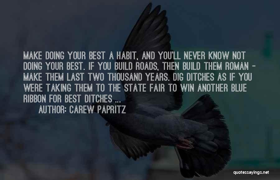 Life Working Hard Quotes By Carew Papritz