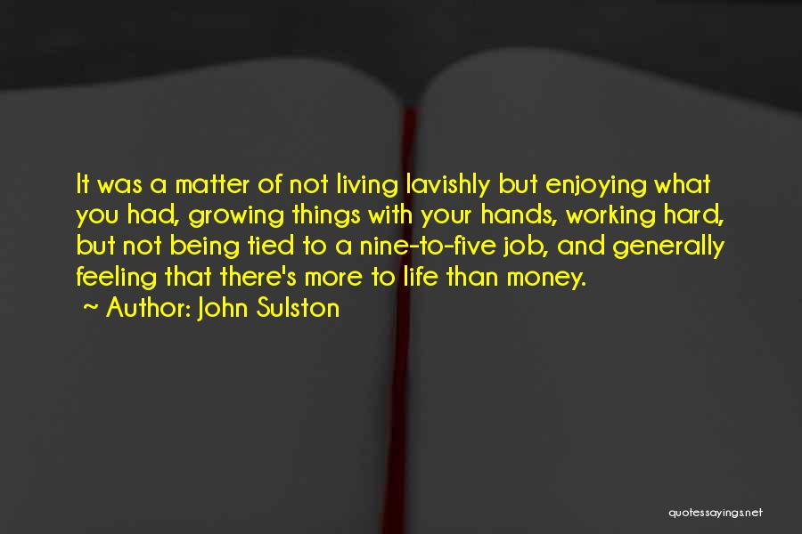 Life Working Hard Quotes By John Sulston